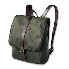 Filson Tin Cloth backpack (also in camel or black)