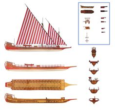 Barbary galley armarments and views - the Barbary corsairs commonly used galleys as small and fast ships in the 16th century as the caribbean pirates used the sloop in the 17th and 18th centuries