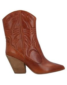 Stitching Solid color Narrow toeline Zip Square heel Leather lining Rubber sole Contains non-textile parts of animal origin Brown Ankle Boots, Jeffrey Campbell, World Of Fashion, Luxury Branding, Cowboy Boots, Shoe Boots, Stitching, Footwear, Zip