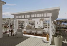 Den Vita Drömgården: Det moderna Attefallshuset goes New England! England Houses, New England Homes, New Homes, Outdoor Areas, Outdoor Rooms, Outdoor Living, Pool House Designs, Cottage Plan, Backyard Retreat