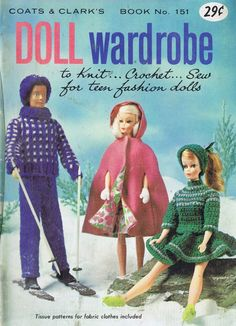 Vintage Fashion Doll Free Patterns to Knit Crochet and Sew