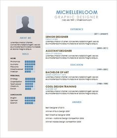 resumes in word format Contemporary Resume Template – Free Word, Excel, PDF Format .