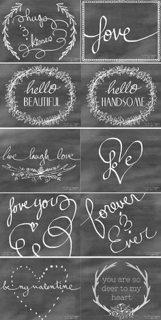 10 Free Chalkboard Valentine's Day Card Printables from  We Lived Happily Ever After