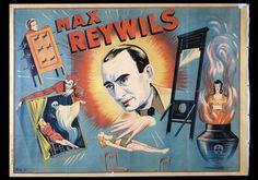"""REYWILS Max . """"Max. Reywils""""Lithographie en couleurs entoilée sur fond"""