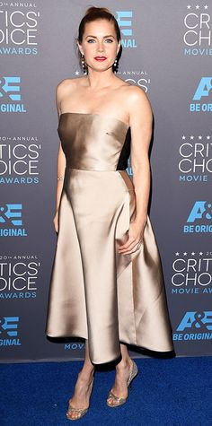 2015 Critics' Choice Movie Awards: Red Carpet Arrivals - Amy Adams from #InStyle #criticschoice #redcarpet