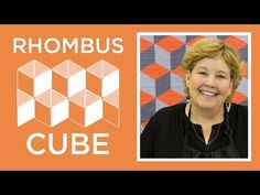 Jenny shows us how to make a Rhombus Cube Quilt without a Y-seam using yardage of Cotton Couture by Michael Miller and the MSQC Rhombus Template. Get the supplies needed here: www. Missouri Star Rhombus Template - Missouri Star Quilt Co. - Missouri Star Q Jenny Doan Tutorials, Msqc Tutorials, Quilting Tutorials, Chevron Quilt Tutorials, Quilting 101, Quilting Classes, Tumbling Blocks Quilt, Quilt Blocks, Star Quilts