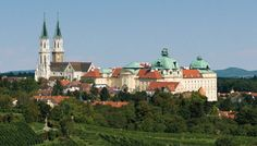 """Not far from Vienna city center is Klosterneuburg Monastery with sacred cultural treasures like the medieval """"Verdun Altar"""", the holy national crown of Austria and the oldest vineyard in Austria. Austria, Bus Ride, Viera, Taj Mahal, Cathedral, Vineyard, Mansions, Architecture, House Styles"""