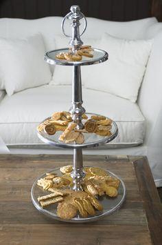 Riviera Maison Berkley Glass Cakestand 3 levels, Sisustus Trendo