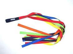Dancing Streamer Ribbons Rainbow of Colors  jj