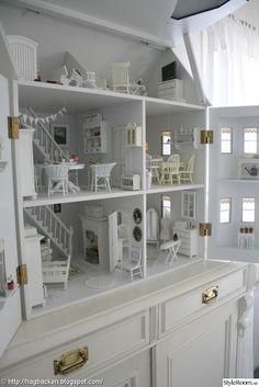 shabby chic white dollhouse