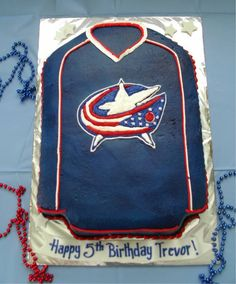 blue jackets jersey cake | Brenda's Cakes & Cookies