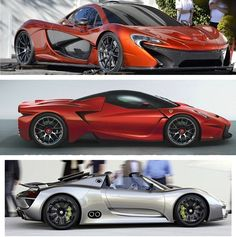 Hybrid 'Battle Royal'!! Which would you choose? The McLaren P1, Ferrari F150 or Porsche 918 Spyder.