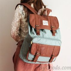 Cute Dot Print Cover Leisure Backpack|Fashion Backpacks - Fashion Bags|ByGoods.com ($36.00) - Svpply