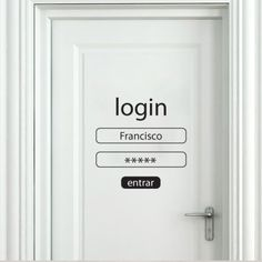 Customizable Login and Password decal sticker