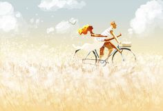 "Faster. by PascalCampion.deviantart.com on @deviantART ""_Don't be afraid honey, I know what I am doing. _Babe... it wouldn't be nearly as much fun if I wasn't afraid.......just go as fast as you can. _You're my hero honey!"""