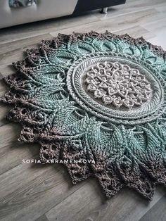 Free Crochet Doily Patterns, Crochet Doily Rug, Crochet Dollies, Crochet Borders, Crochet Round, Thread Crochet, Tapete Doily, Carpet Crochet, Crochet Stone