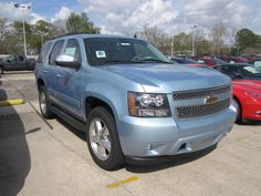 2011 Chevy Tahoe LT in Ice Blue Metallic at Bryan Chevrolet, I love big cars but I hate driving them!