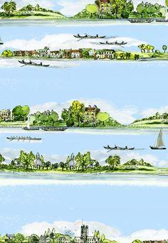 Makower > Cotton Prints > 2015 Country Riverbank 7870 G30