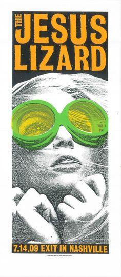 The Jesus Lizard #gig #poster #design