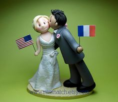 Two Become One Wedding Romantic Kissing Cake Topper prices start at $135 plus postage