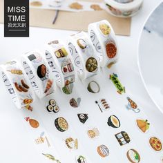 1.5CM*7M Delicious Food Style Vitality Cuisine Washi Tape Adhesive Tape DIY Scrapbooking Sticker Label Masking Tape-in Office Adhesive Tape from Office & School Supplies on Aliexpress.com | Alibaba Group
