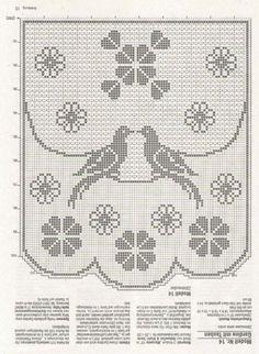 Салфетки-с-птицами-овальная-и-круглая-3-крючок схема 1