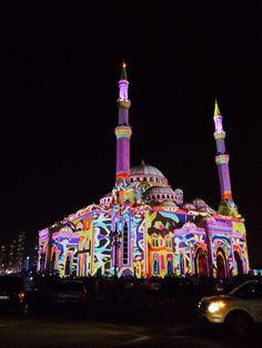 Sharjah Light Festival, Sharjah, UAE.
