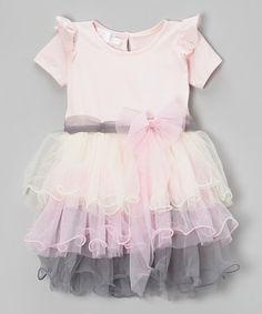 This Pink & Blue A-Line Dress - Toddler & Girls is perfect! #zulilyfinds