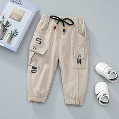 Baby / Toddler Letter Print Front Pocket Trouser (No shoes) Wwe Outfits, Kids Outfits, Fashion Outfits, Boys Joggers, Baby Pants, Matching Family Outfits, Baby Outfits Newborn, Baby Wearing, Kids Wear