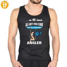 Tank-Top Shirt - Vor 40 Jahren brauchte Gott einen guten Angler - witziges Funshirt als Geschenk für Angler, Größe:M (*Partner-Link)
