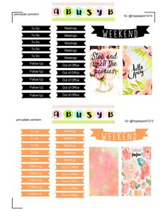 """The weekend is upon us and many of us are planning the upcoming week! Today's freebie is a great 2 week set for you work Happy Planner. With """"To Do"""", """"Meetings"""", """"Follow Up"""" and """"Out of Office"""" stickers you can assure all bases are covered in your work environment. The picture is of course, in…"""