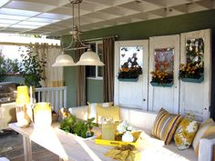 Ray of Sunshine - Mix and Match Outdoor Accent Pillows on HGTV