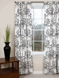 Curtains and Drapes - Black Curtains | White Curtains | Gray Curtains