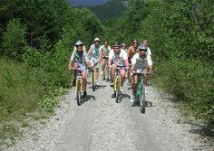 Mountain bikes off road