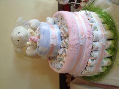 My diaper cake for Joanna's shower