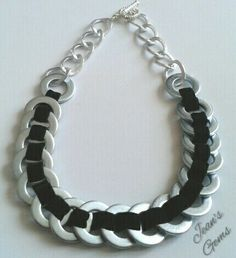 Necklace made with steel washers