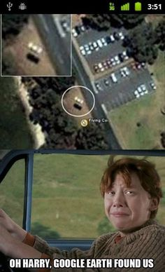 Harry Potter is a fake world, but who says it can't intersect with the real world? Here are 15 times people have spotted Harry Potter people and object Harry Potter World, Humour Harry Potter, Mundo Harry Potter, Harry Potter Fandom, Harry Potter Memes Clean, Harry Potter Flying Car, Harry Potter Stuff, Harry Potter Characters, Haha