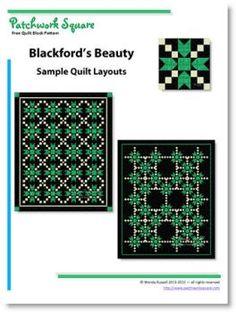 Blackford's Beauty quilt block pattern