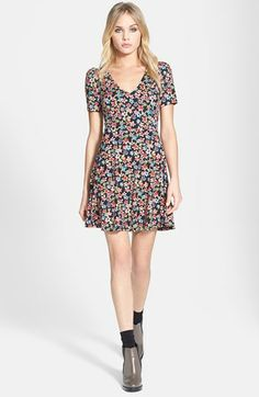 I'm just a little obsessed with Topshop at the moment. Topshop 'Emma' Floral Tea Dress available at #Nordstrom
