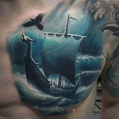 Tattoo Dmitriy Varlakov - tattoo's photo In the style Realistic, Raven, Shi Raven Tattoo, Realism Tattoo, Tattoo Photos, Breast, Ship, Tattoos, Style, Swag, Realist Tattoos