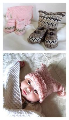 Free baby knitting patterns ... easy knit patterns for baby beanies, cardigans, boots and more #knittingpatternsbaby