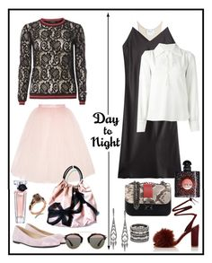 """""""DAY TO NIGHT!!!"""" by kskafida ❤ liked on Polyvore featuring Dorothy Perkins, Ballet Beautiful, HUGO, Valentino, Suzy Levian, Christian Dior, Lancôme, DKNY, See by Chloé and Loeffler Randall"""