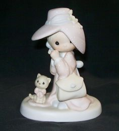 VTG Precious Moments To A Very Special Mom with Kitty Porcelain Girl Figurine 1983 Collectible  $40.95