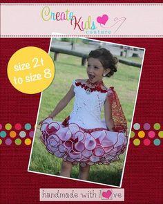 Create Kids Couture - Odette's Off-Shoulder Flare Bodice PDF Pattern, $7.00 (http://createkidscouture.com/odettes_girls.html/)