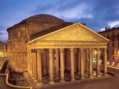 The Pantheon- Rome, Italy. Perhaps the best preserved example of the awesome insanity that was ancient Roman architecture. Roman Architecture, Ancient Architecture, Amazing Architecture, Classic Architecture, Ancient Rome, Ancient History, Ancient Art, Roman History, Art History