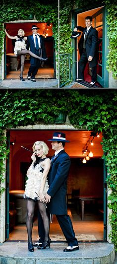 1920s fashion themed wedding rehearsal dinner at Kenwoon Inn and Spa, Madina Vadache mini dress, photos by Beautiful Day Photography