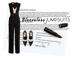"""""""Sleeveless Jumpsuit"""" by slim-thick ❤ liked on Polyvore featuring STELLA McCARTNEY, sleevelessjumpsuits and deepredlip"""
