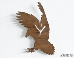 Wall Clock EAGLE FLYING by SolPixieDust