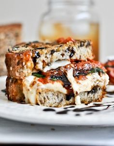 is roasted tomato caprese grilled cheese with balsamic glaze roasted ...
