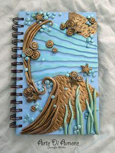 blue sea polymer clay journal